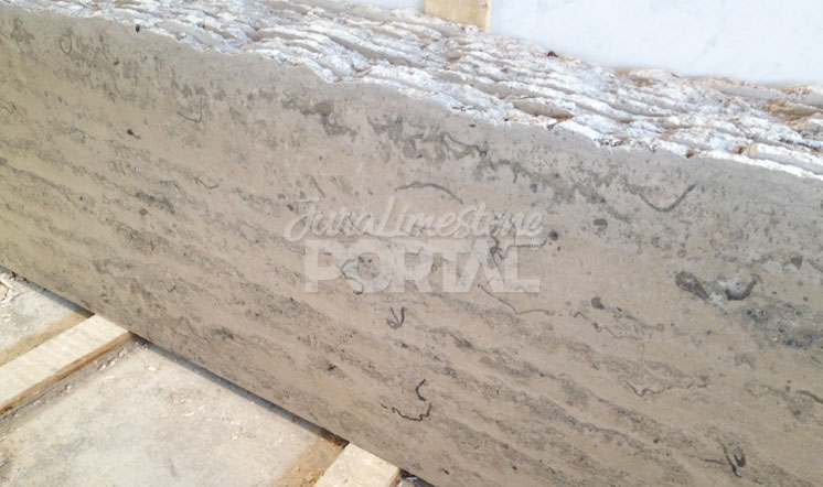 Jura Grey limestone vein-cut slabs